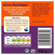 image 2 of Bens Original Sweet & Sour Sauce 450G