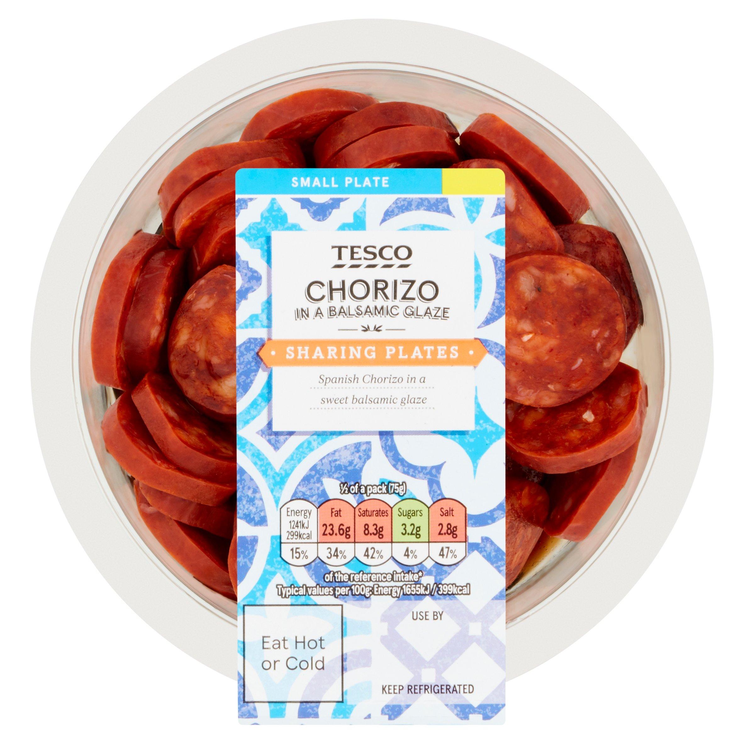 Tesco Chorizo In Balsamic Glaze 150G