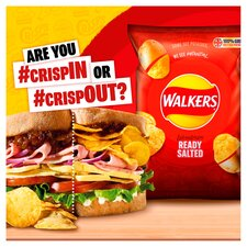 image 2 of Walkers Variety Ready Salted &Vngr Crisps 12X25g