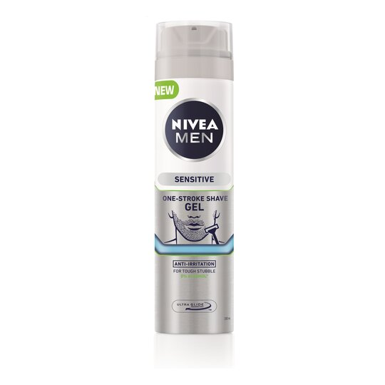 Nivea Mens Sensitive One Stroke Shave Gel 200Ml