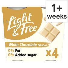 image 1 of Light & Free Greek Style Yogurt White Chocolate 4X115g