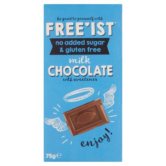 Freeist Milk Chocolate 75g No Added Sugar Tesco Groceries