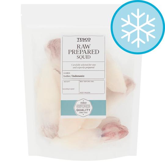 Tesco Squid Raw Prepared 300G