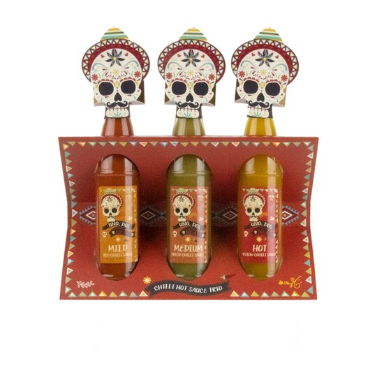 Chilli Hot Sauce Trio Tesco Groceries