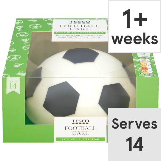 Tesco Football Cake Each Tesco Groceries