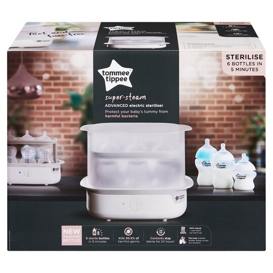 image 1 of Tommee Tippee Super-Steam Advanced Electric Steriliser White