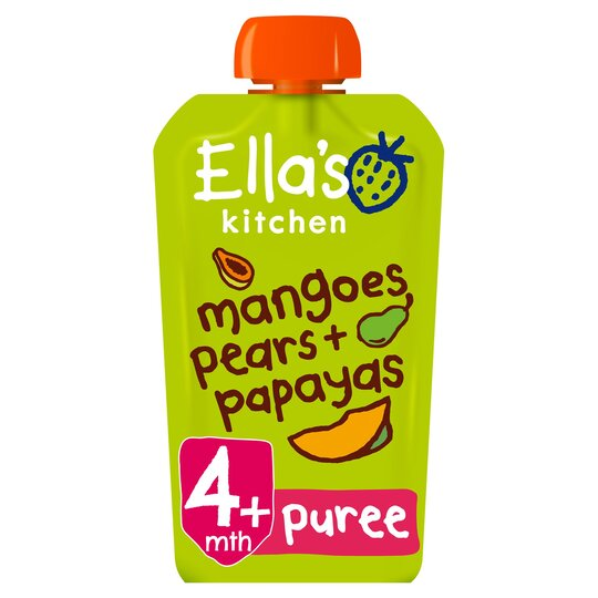 Ella's Kitchen Mangoes Pears Papayas Stage 1 X 120G