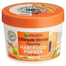 image 1 of Garnier Ultimate Blends Hair Food Papaya 3In1 Mask 390Ml