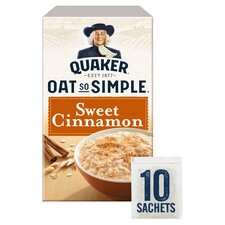 image 1 of Quaker Oat So Simple Sweet Cinnamon Porridge 330G