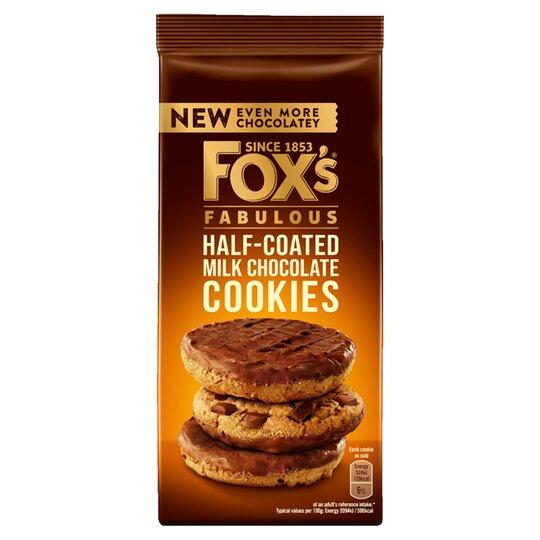 image 1 of Fox's Half Coated Milk Chocolate Cookies 175G