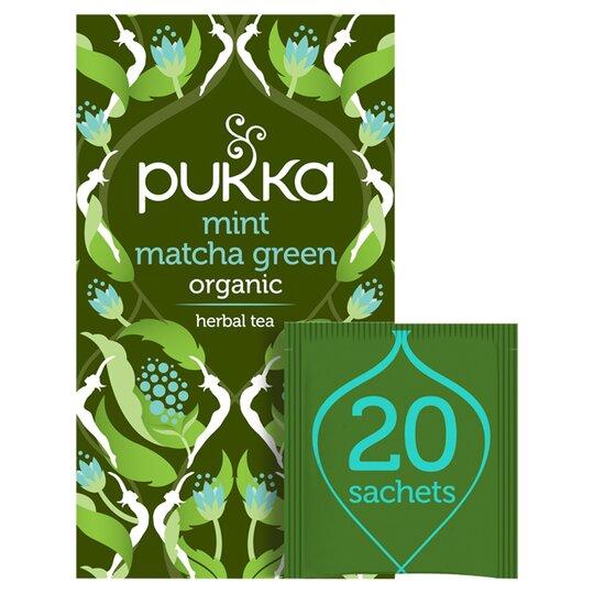 Pukka Organic Fair Mint Matcha Green 20 Tea Bags 30G