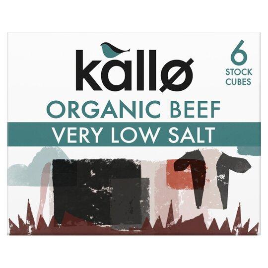 Kallo V Low Salt Stock Cubes Beef 48G