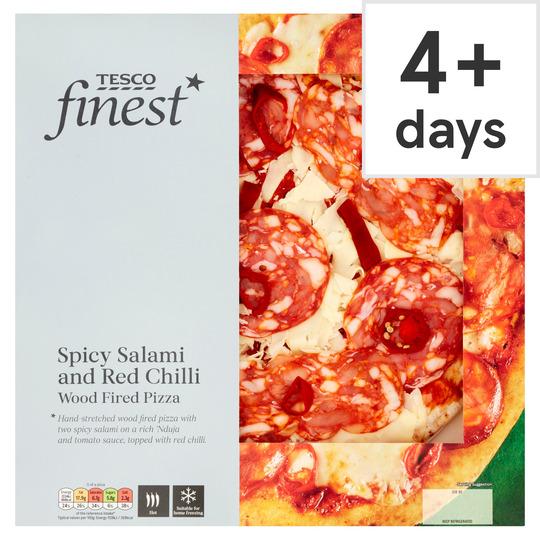 Tesco Finest Italian Spicy Salami Pizza 405G
