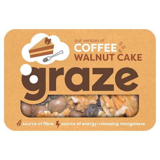 Graze Coffee And Walnut Cake Punnet 34g Tesco Groceries
