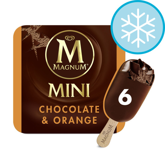 image 1 of Magnum Mini Chocolate & Orange Ice Cream 6X55ml