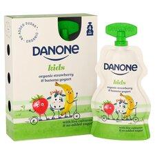 image 2 of Danone Kids Organic Strawberry & Banana Yogurt 4 X 70G