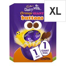 image 1 of Cadbury Dairy Milk Orange Giant Buttons Easter Egg 410G