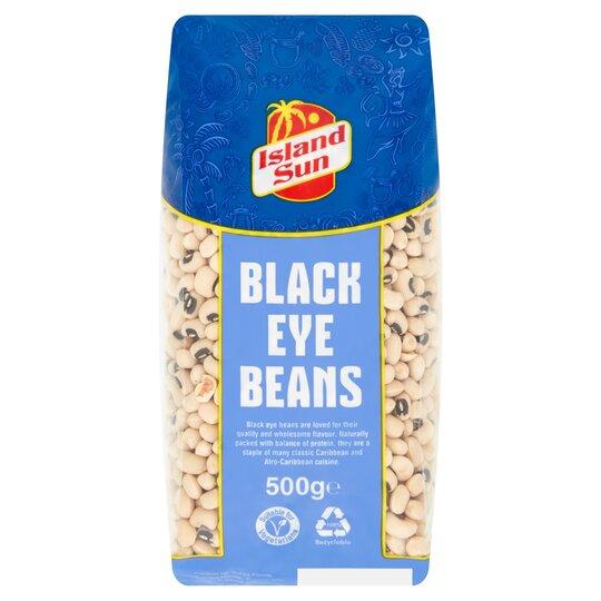 island sun black eye beans 500g  tesco groceries