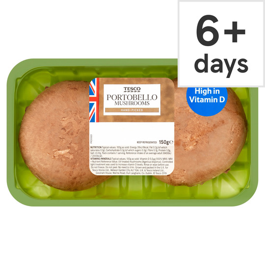 Tesco Portobello Flat Mushrooms 150g Tesco Groceries