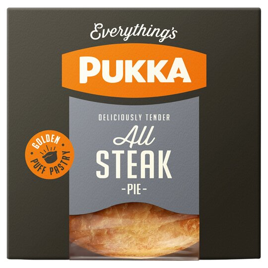 Pukka Pies All Steak Pie 233G - Tesco Groceries