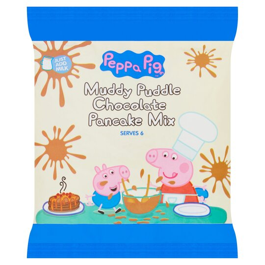 Peppa Pig Muddy Puddle Chocolate Pancake Mix 155g Tesco Groceries