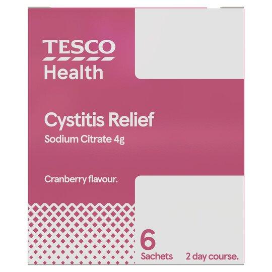 Tesco Cystitis Relief 6 Sachet Tesco Groceries