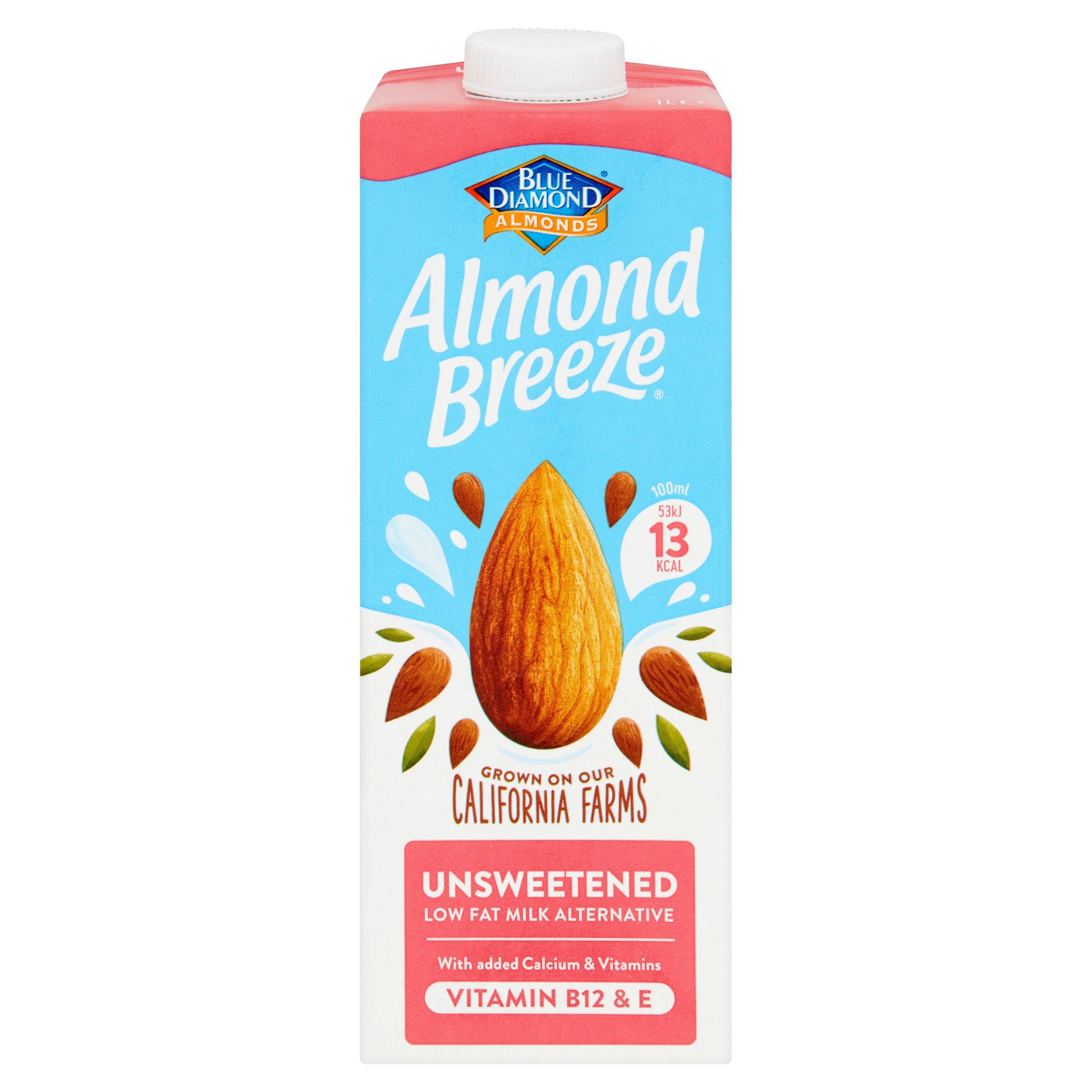 Blue Diamond Almond Breeze Unsweetened Drink 1L