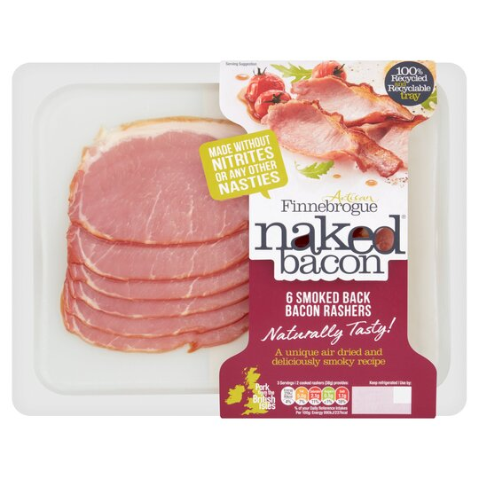 Finne Brogue Naked 6 Smoked Back Bacon 200G