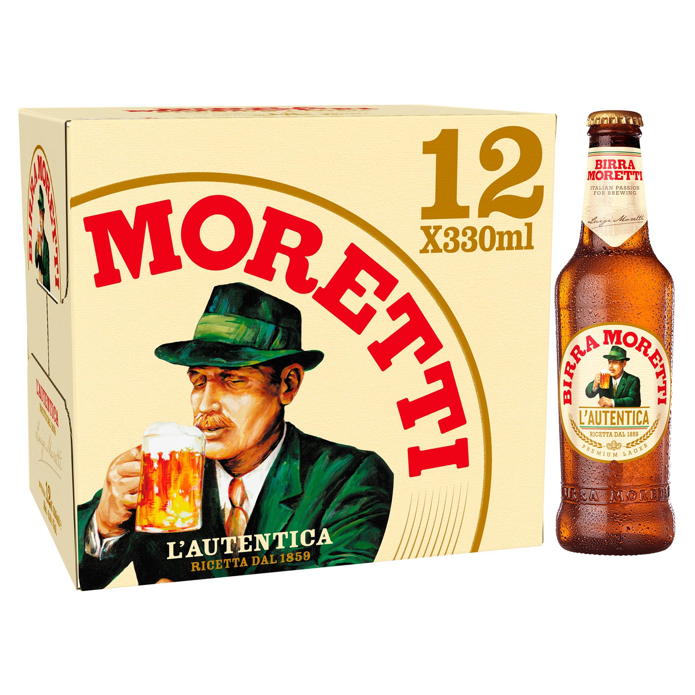 Birra Moretti Lager Beer 12X330ml