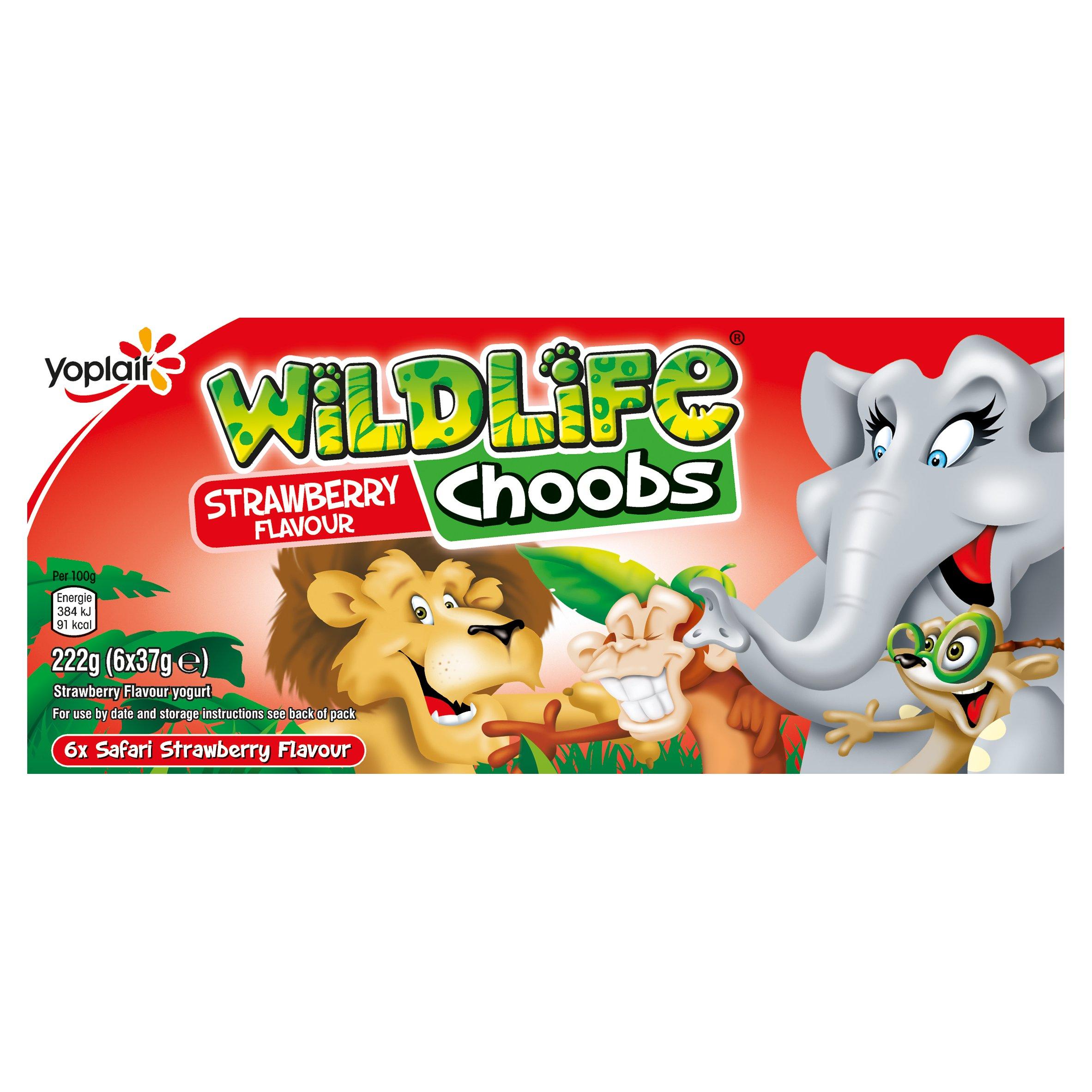 Wildlife Choobs Strawberry Yogurts 6X37g