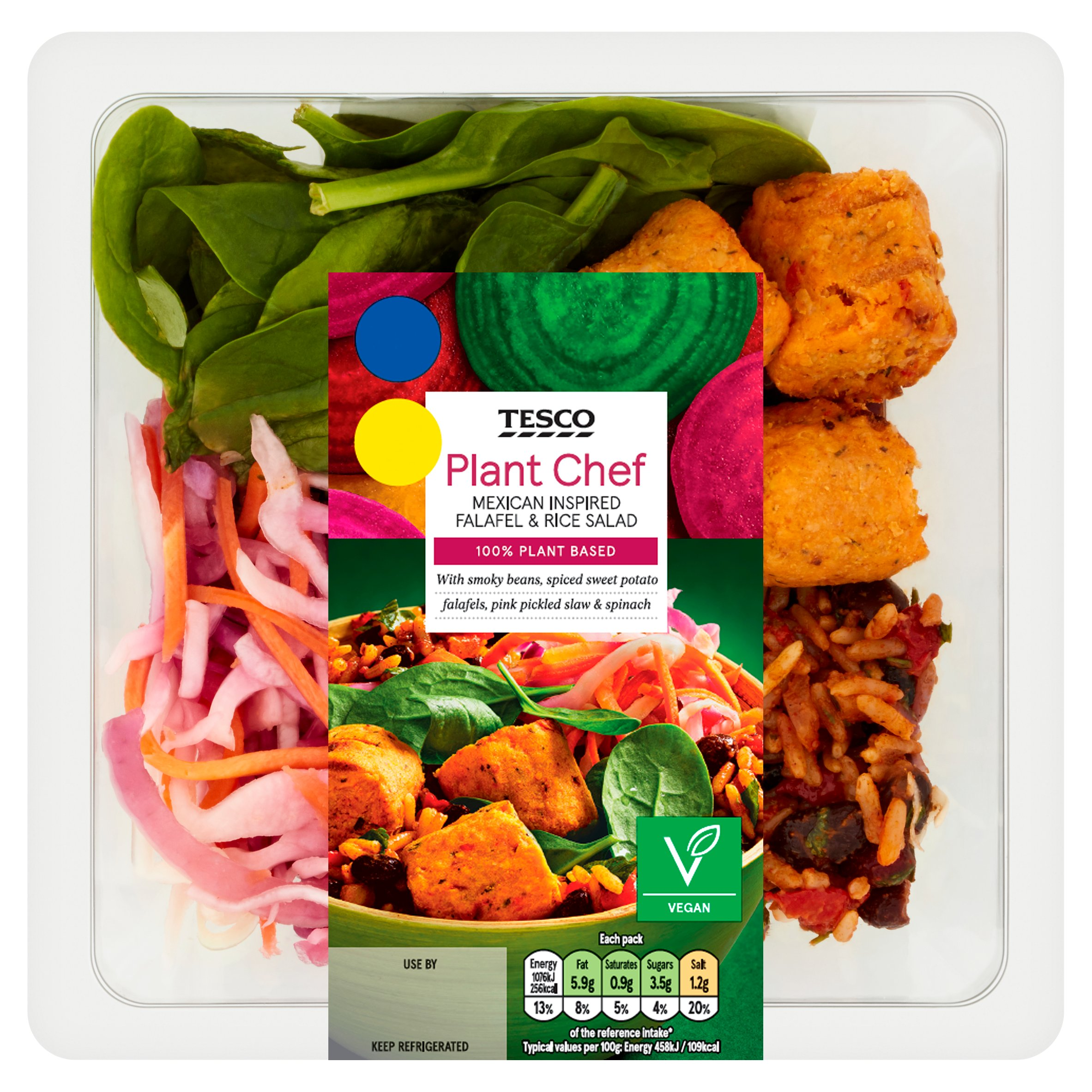 Tesco P/Chef Mexican Inspired Falafel & Rice Salad 235G