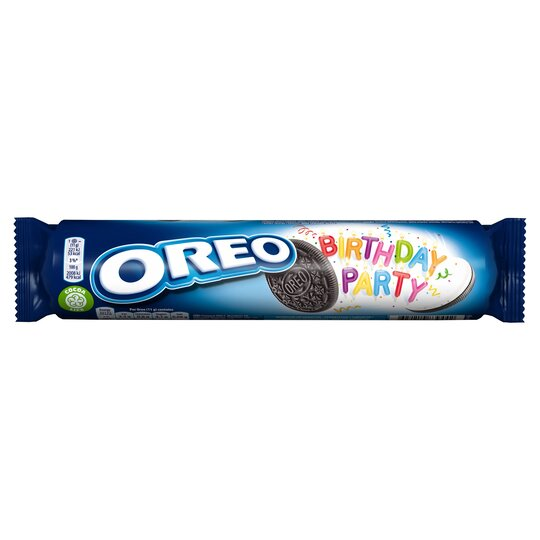 Groovy Oreo Birthday Party 154G Tesco Groceries Personalised Birthday Cards Petedlily Jamesorg