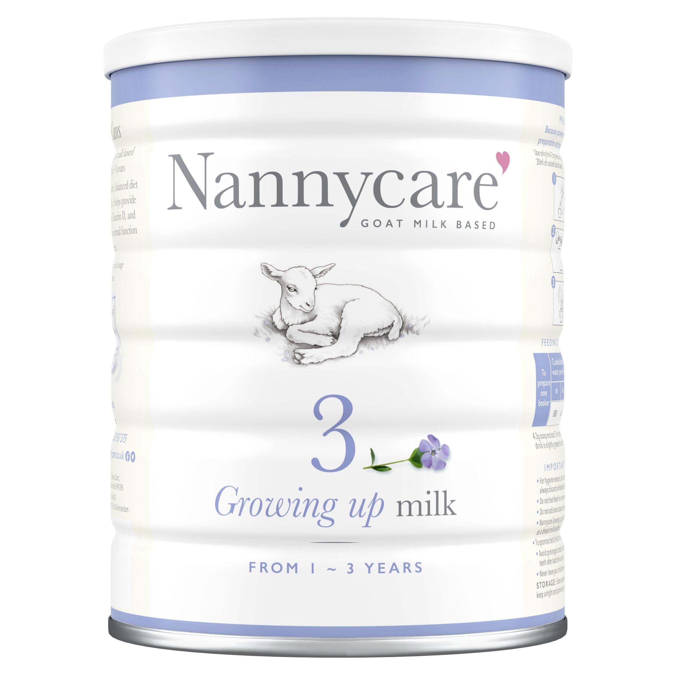 Nannycare 3 Goat Milk Based Growing Up Milk 900G