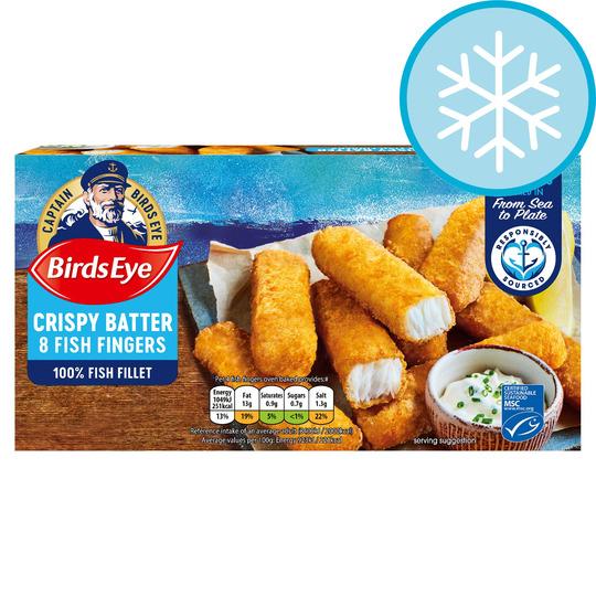 Birds Eye 8 Crispy Batter Fish Fingers 224G