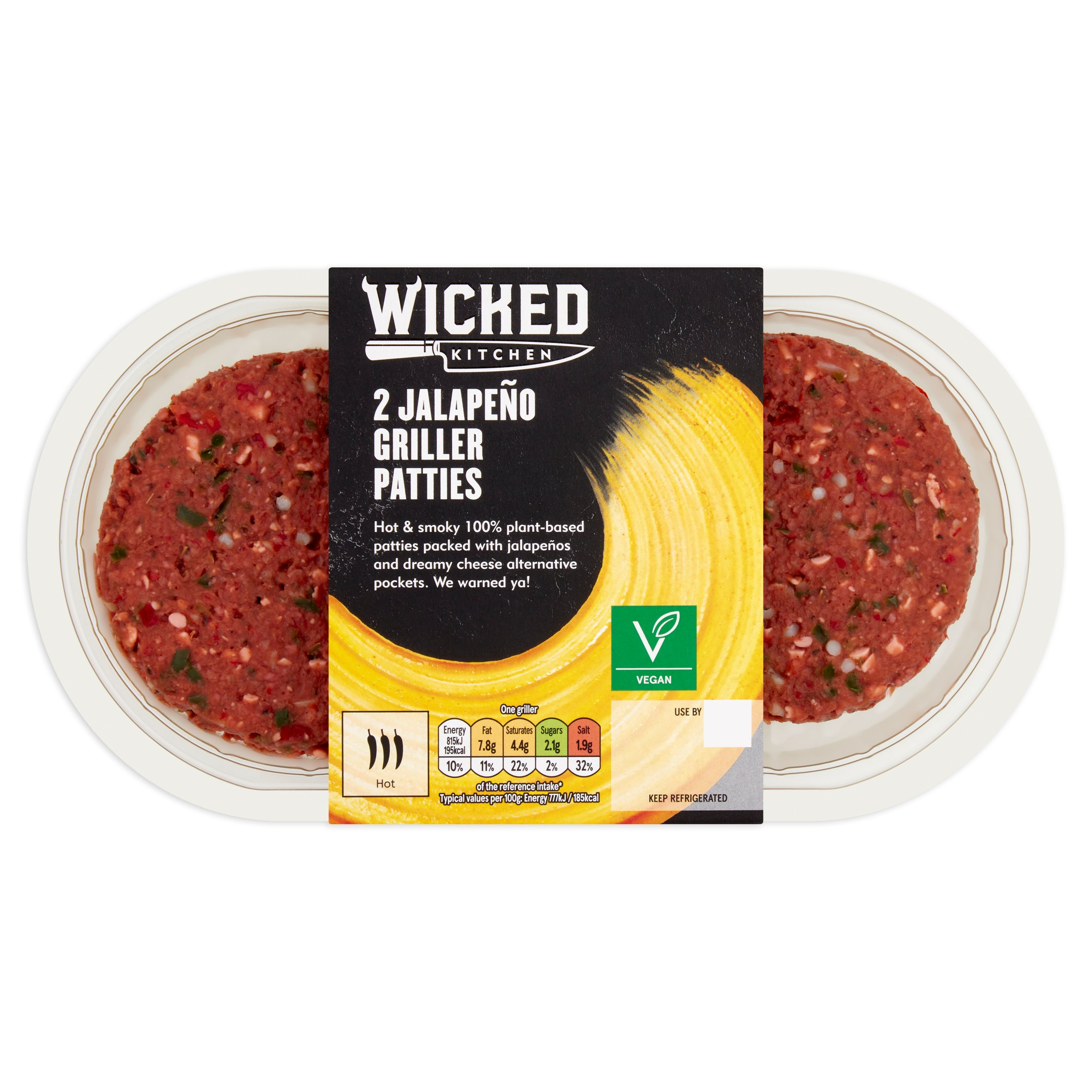 Wicked Kitchen 2 Jalapeno Griller Patties 226G