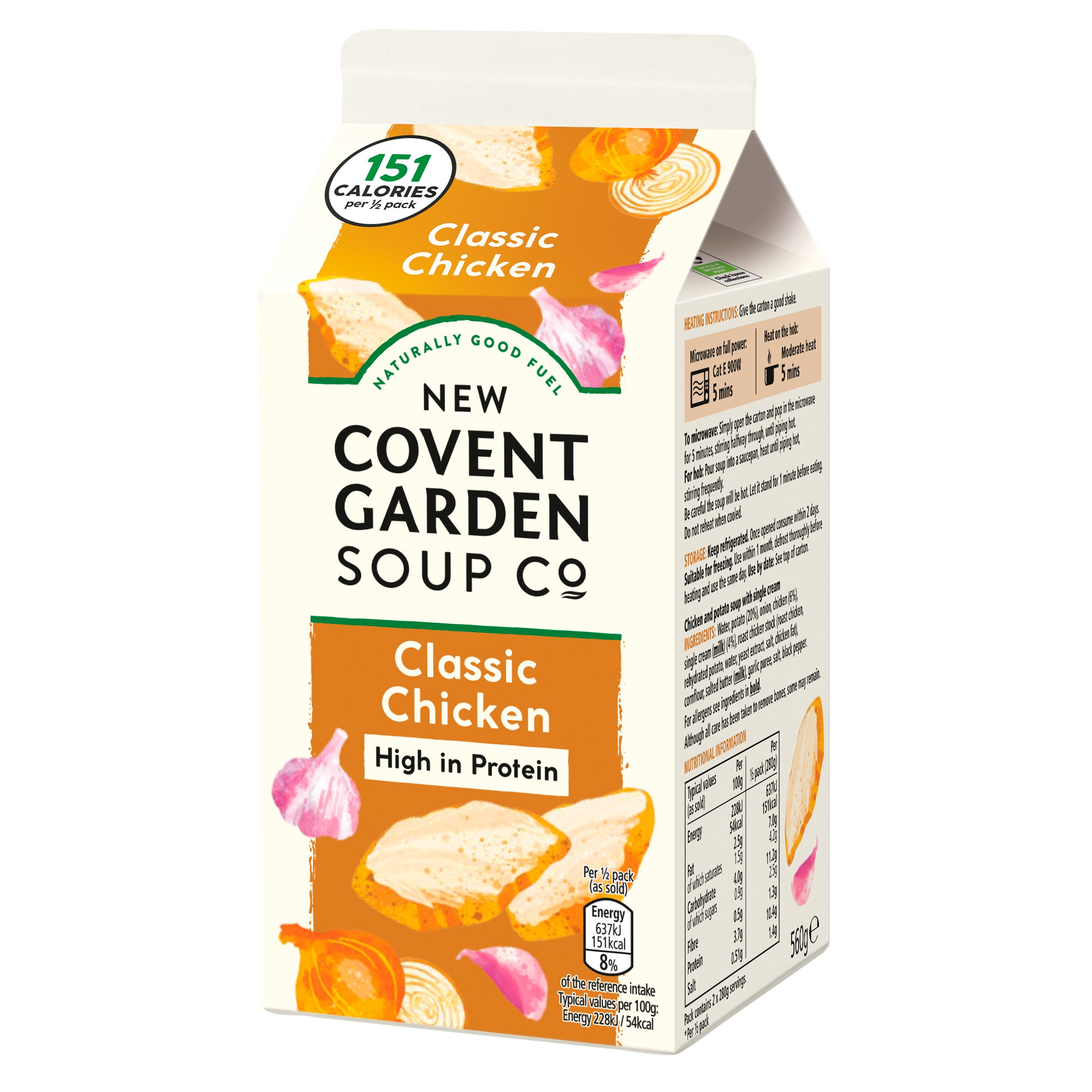 New Covent Garden Soup Co Classic Chicken Soup 560G