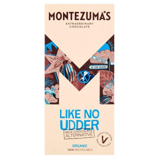 Montezuma's Like No Udder Milk Chocolate Chocolate Alternative Organic 90G