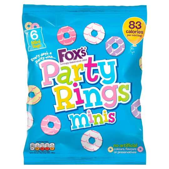 Fox's Mini Party Rings 120G