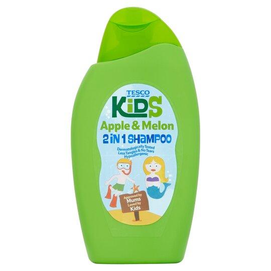 Tesco Kids Apple & Melon 2 In 1 Shampoo 250Ml