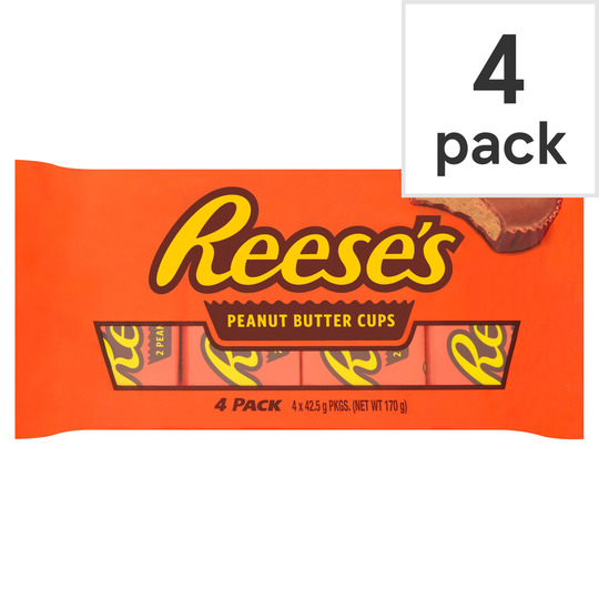 Hersheys Reeses Peanut Butter Cups 4 Pack 170G