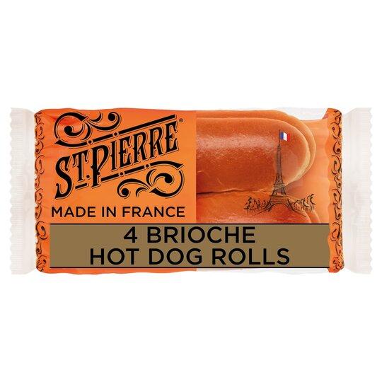 image 1 of St Pierre 4 Brioche Hot Dog Rolls