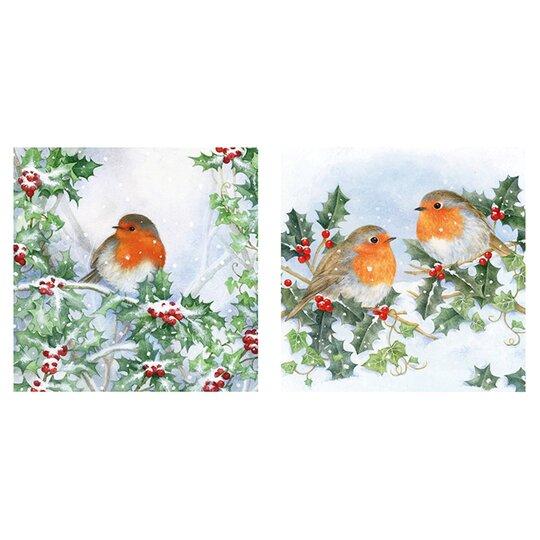 Tesco Traditional Robin Card 10 Pack