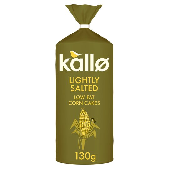 Kallo Lightly Salted Wholegrain Low Fat Corn Cake 130G
