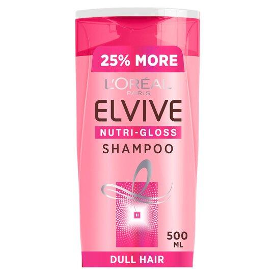 L'oreal Elvive Nutri-Gloss Shine Hair Shampoo 500Ml