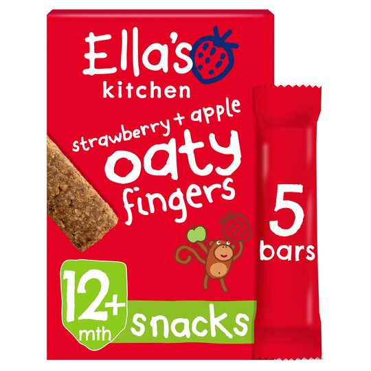 Ella's Strawberries & Apples Nibbly Fingers 5 X 25G