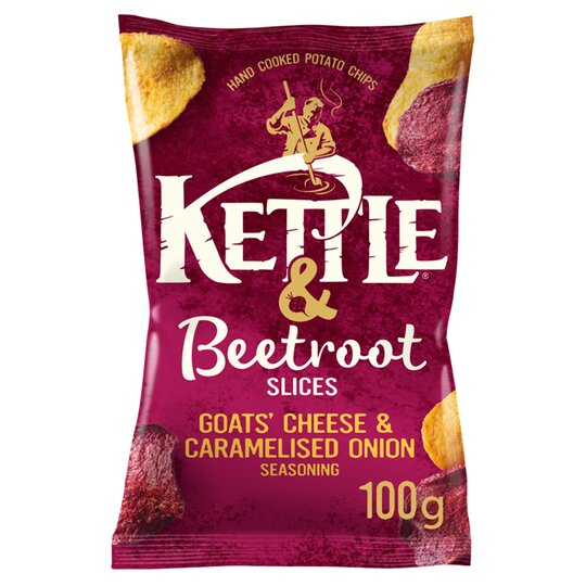 Kettle & Beetroot Slices Goat Cheese & Caramelised Onion 100G