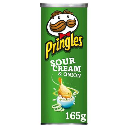 Pringles Sour Cream & Onion Crisps 165G