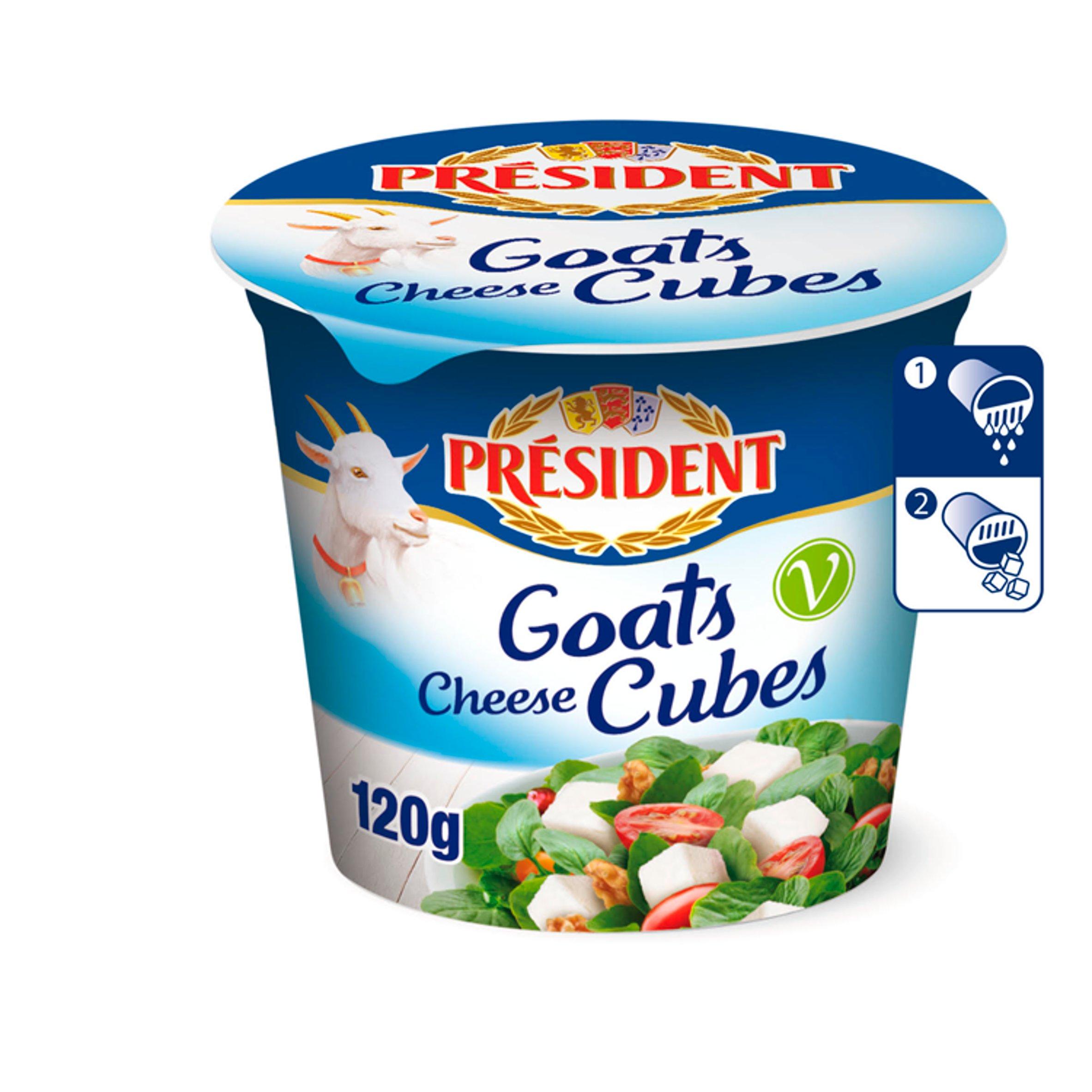 President Goats Cheese Cubes 300G