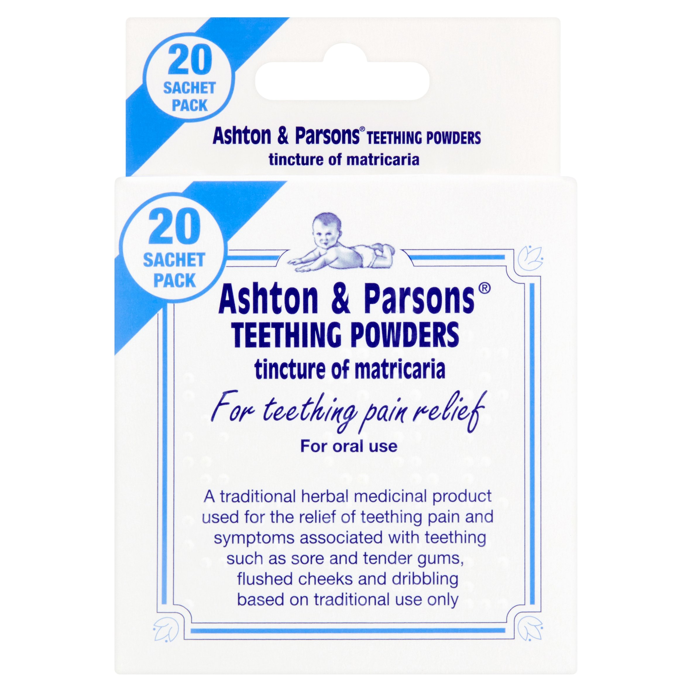 Ashton /& Parsons Infants/' Powders for Teething Pain Relief 20 Sachets 6 Pack
