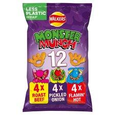 image 1 of Walkers Monster Munch Variety Snacks 12 X 22G